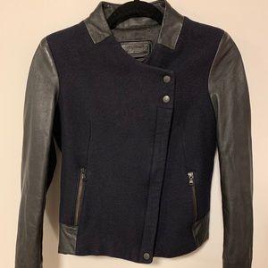Danier leather/wool jacket xs